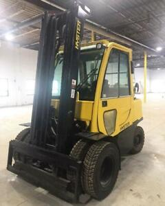chariot elevateur Hyster H80FT propane avec cabine, forklift, lift truck,Double Roues Avant,Double wheel in front,cabin