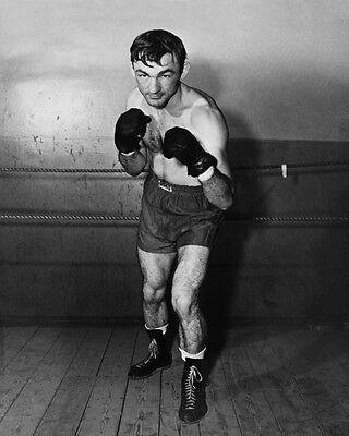 (1940s American Boxer CARMEN BASILIO Glossy 8x10 Boxing Photo Pose Print )