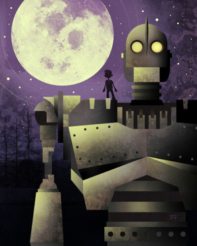 SIGNED Bryan Fyffe Iron Giant Artist Proof AP Art Canvas Print Ready Player One