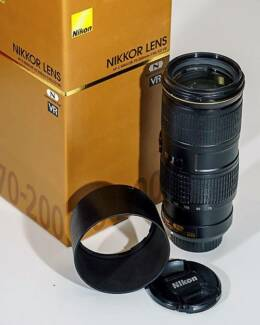 Nikon 70 - 200mm F4 G VR current Model Near New