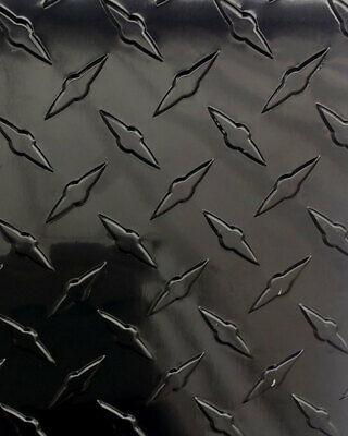24 X 48 Black Gloss Aluminum Diamond Plate Sheet - .025 Thick