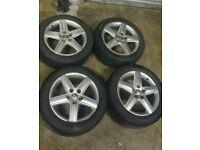 "Genuine 17"" Audi A4 Alloy Wheels 5x112"