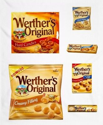 Werther's Original Butter Cream Candies / Creamy Filling / Chewy Toffees