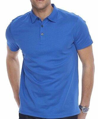 30 Mens Apt 9 Short Sleeve Modern Fit Polo Shirt 100  Cotton Surf T Web Blue L