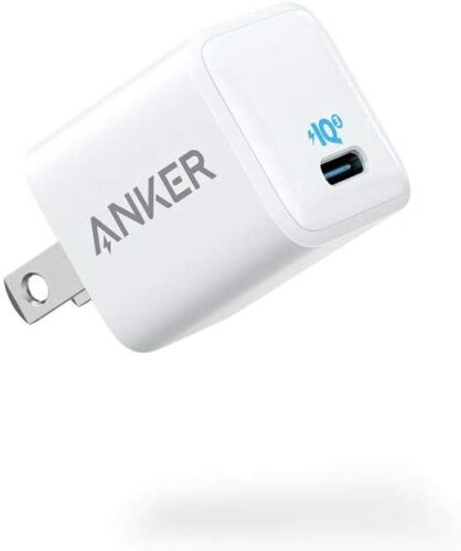 Anker Nano Charger Power Adapter 20W USB-C Fast Charging for iPhone 13 12 11 Pro