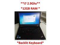 Lenovo Thinkpad T430S ***i7 2.9Ghz 12GB RAM B\L Keyboard*** 250GB HDD WIN7 PRO