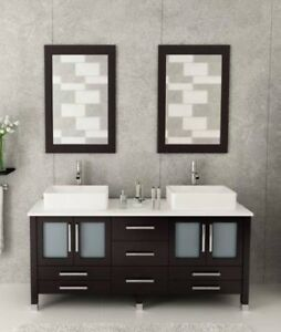 "59"" Bathroom Vanity (includes mirrors, faucets, countertop)"