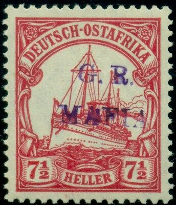 GERMAN EAST AFRICA MAFIA ISLAND SGM3B  violet overprint on 7 ½ h, og, NH signed