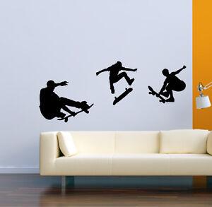 Autocollant skateboard skater sticker en vinyle decoration for Deco murale graphique