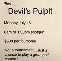 """Amazing, """"Devils Paintbrush"""" Golf course for only $125, ALL IN!!"""