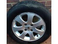 "PEUGEOT 307 15"" alloy wheels x 2"