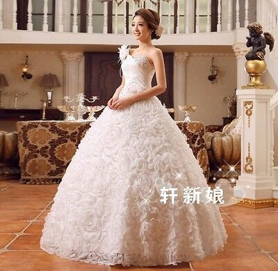 Floor Length Princess Wedding Dresses Ball Gowns Bridal Frock ...
