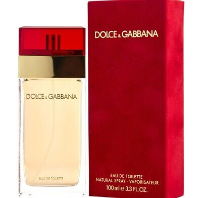 Dolce & Gabbana for Women 3.3 oz 100 ml Eau de Toilette Spray Classic Red Sealed