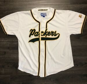 Vtg Starter Greenbay Packers Baseball Jersey