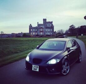 £3650, Seat Leon FR 08, Black, Stage 1 Remap, 93k, Great condition,