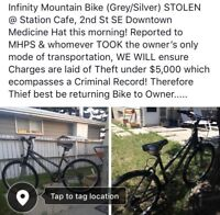 STOLEN, DOWNTOWN AT STATION CAFE!
