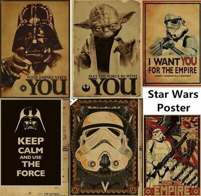Vintage Star Wars Wall Picture Vinyl Mural Removable Decals DIY Home Decor - Star Wars Decoration
