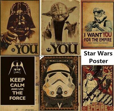 Vintage Star Wars Wall Sticker Vinyl Mural Removable Decals DIY Home Decor
