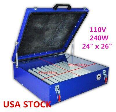 Us 240w Vacuum Exposure Unit 24 X 26 Precise Screen Printing 110v