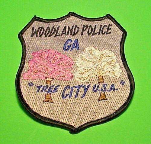 "WOODLAND  GEORGIA GA "" TREE CITY U.S.A.""  4 3/4""  POLICE PATCH  FREE SHIPPING!!!"