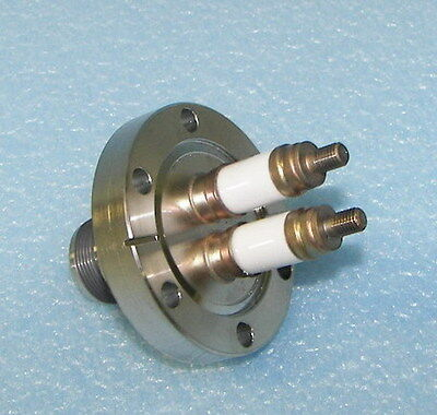 "Varian High Vacuum Electric Feed Through 2.75"" Flange Ceramic Current MDC A&N"