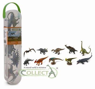 Mini Dinosaurierset Nr. 1  Box Tubos-Röhren Collecta A1101