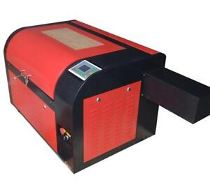 "Second Hand 110V DSP 60W 15.75""x 23.62"" 4060 CO2 USB Laser Engraver Cutter Machine with Stand 130068"