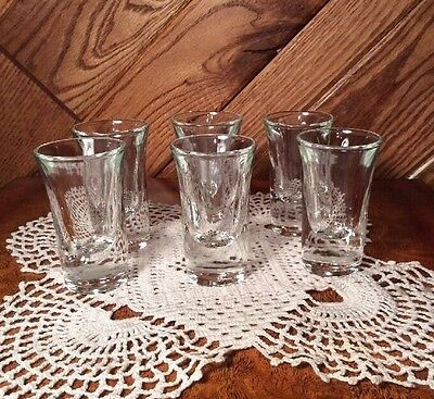 (Clear Shot Glass Tall  Set of 6 Heavy Bottom)