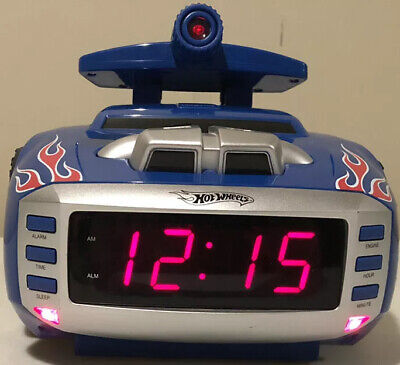 Collector Hot Wheels Car Alarm Clock Radio Mattel 2008 model HW805 Blue