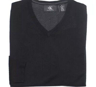 NEW Calvin Klein Men's V Neck Sweater 100% Merino Wool  Size M