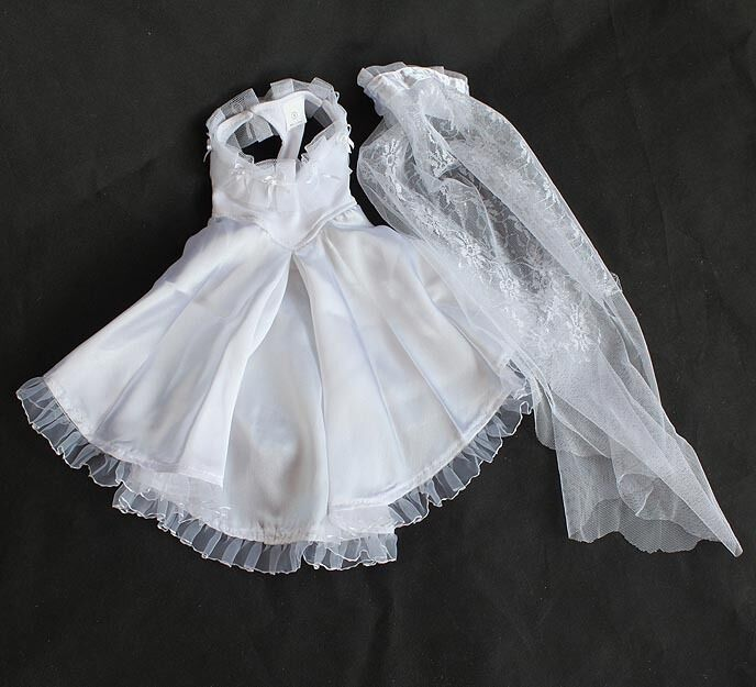 NEW DOG Wedding Flower Girl Dress White Set Veil Party Gown Bridesmaid Sm-Lg