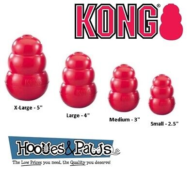 (Kong Classic Rubber Dog Toy Best Fetch Chew Pet Puppy Treat Tough Ball All Sizes)