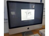 Apple iMac, 24inch, 8gb RAM, 640gb, late 2009, keyboard and mouse