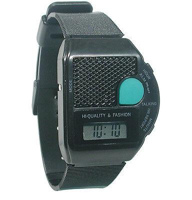 Square Iii Talking Wrist Watch - English - Large Green Push Button To Talk