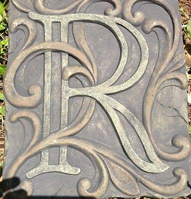 R Stone, plaque, stepping stone,  plastic mold, concrete mold, cement, plaster
