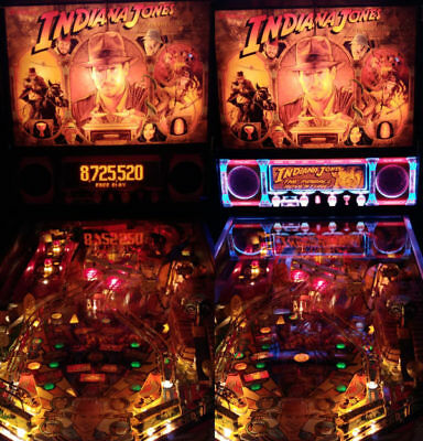 Indiana Jones Williams Pinball Lighted Speaker Panel LED MOD- ULTIMATE EDITION
