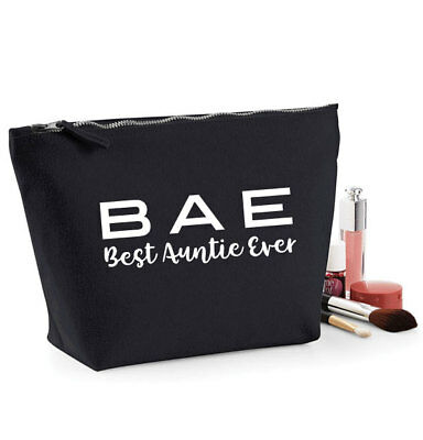 Best Auntie Ever BAE Make Up Bag/Cosmetic case, Gift for Aunt,