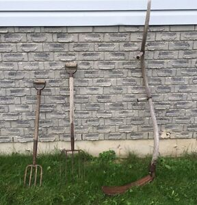 Antique sithe and 2 pitch forks Peterborough Peterborough Area image 1