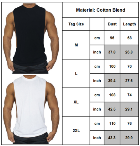 Men Muscle Training Sleeveless Shirt Tank Gym Sports Fitness Workout Vest Top Clothing, Shoes & Accessories