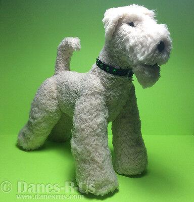 Wheaten Terrier Plush Fleece Soft Sculpture Stuffed dog art FUZZY One of a Kind