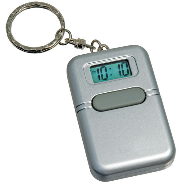 Small Lightweight Talking Digital Alarm Clock Keychain - NEW IN BOX