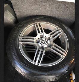15 inch Volkswagen golf alloy wheels & tyres