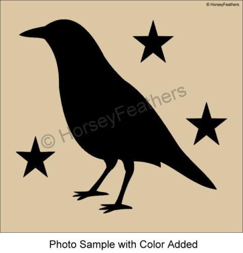 New-Crow and Stars STENCIL~Bigger Sizes Primitive Country DIY U Pick U Paint