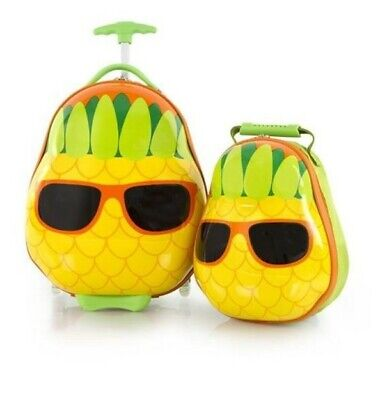 Heys Travel Tots Kids 2 Piece Luggage & Backpack Set  Pineapple
