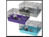 Hamster cage and accessories. Purple. Nearly new. Includes bowl, bed, tubes, wheel. STROOD