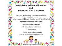 Registered Childminder & Before and after school care