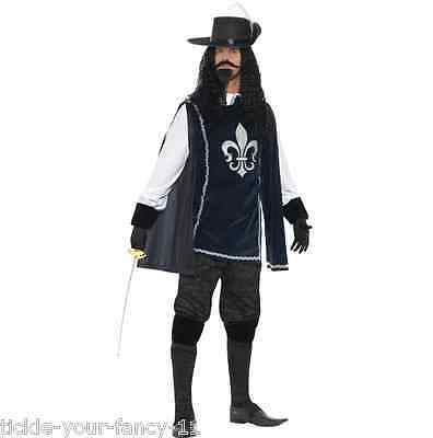 Men's 3 Musketeers Fancy Dress Costume Medieval Man In The Iron Mask Stag Theme ](The 3 Musketeers Costumes)