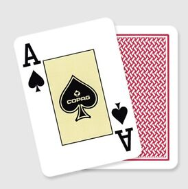 Copag Texas Hold'em Gold Red playing cards