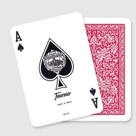 Fournier 505 Red playing cards