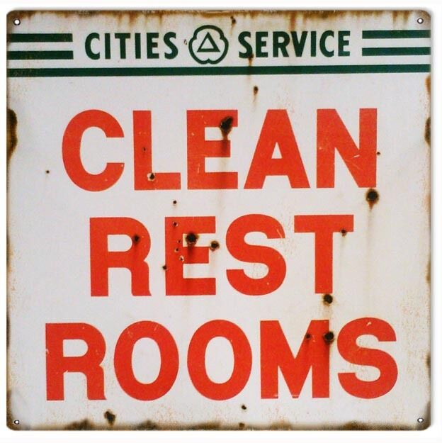 Cities Service Clean Rest Rooms Sign Nostalgic